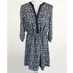 H&M Black and White Dress w/ Drawstring Waist / 6